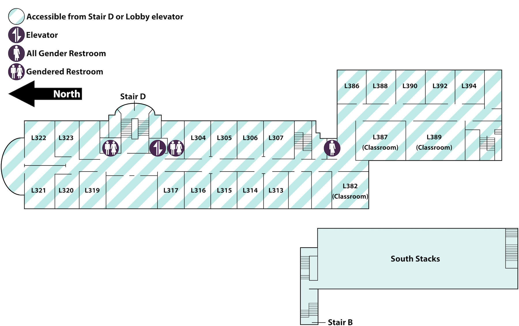 floor map of library Level 3